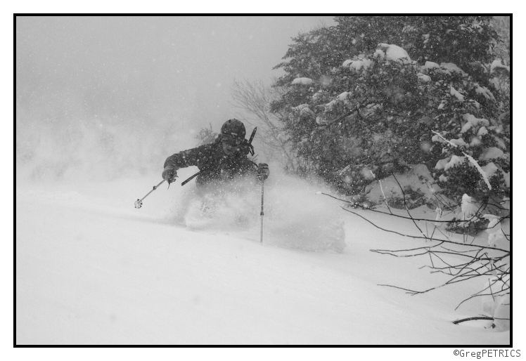 Ben far from the crowds, deep in the pow