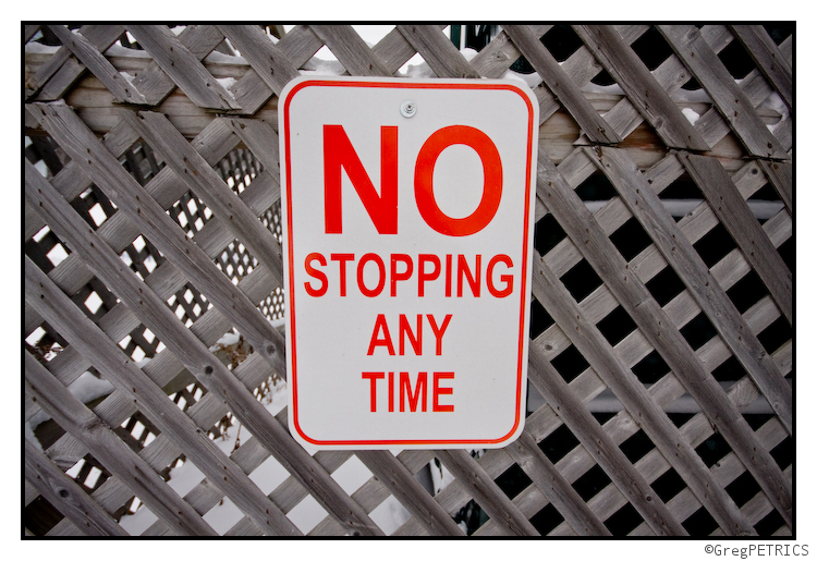 no stopping allowed
