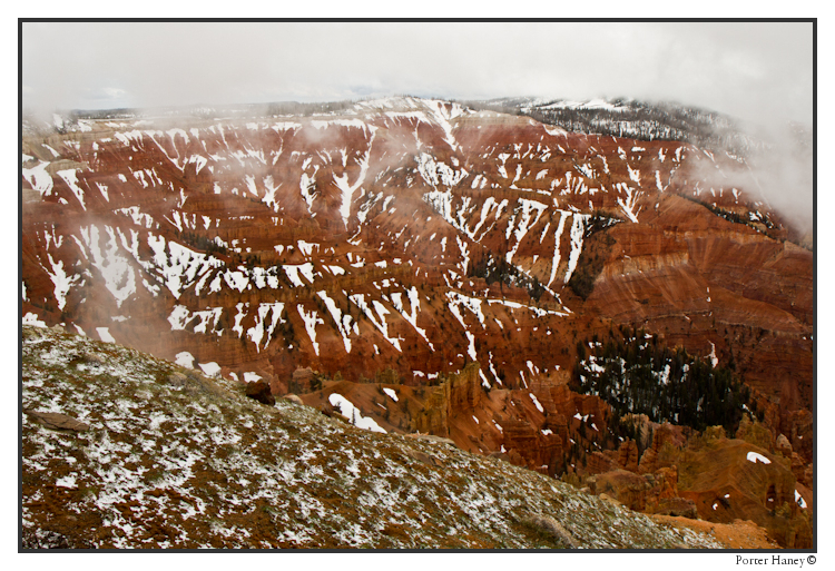 more snow at Cedar Breaks