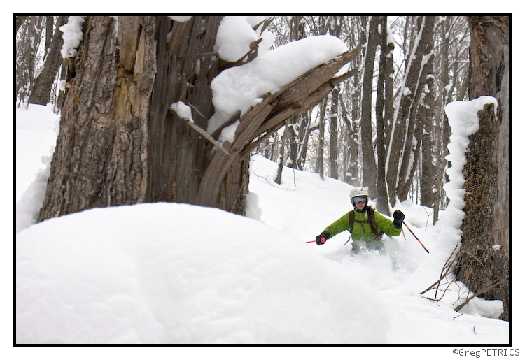 Kristin Schusses Powder in Vermont