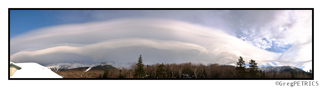 Parallel Lenticular Cloud over Mt. Washington
