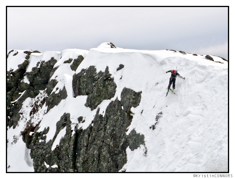 too steep for snow?