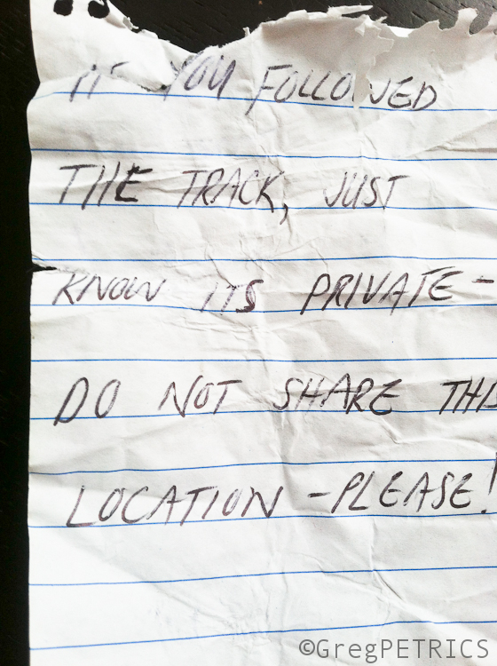 note on the windshield