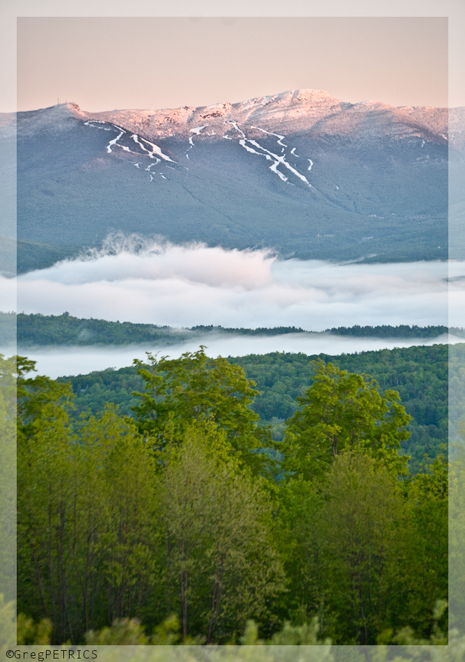 Snow on Mount Mansfield Memorial Day