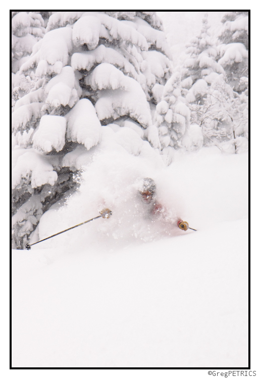 Ben Peters gets really really deep in powder snow in Vermont