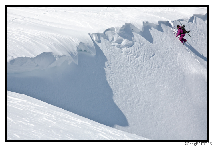 A Snowboarder Earning turns in New Hampshire