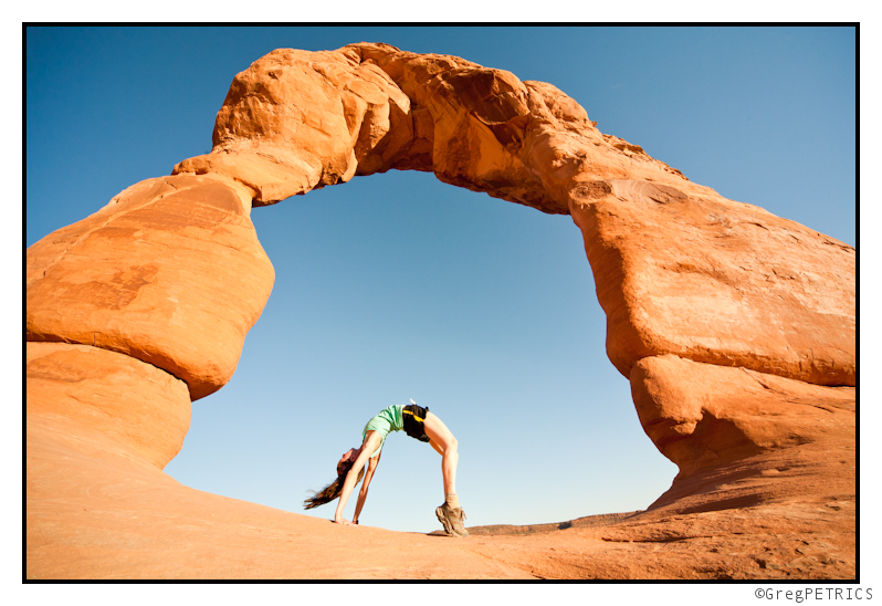 KC Arch in front of Delicate Arch